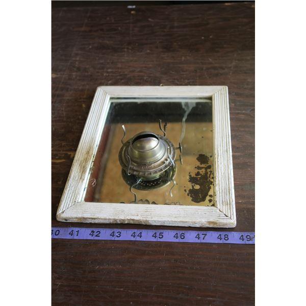Very Old Mirror & Lantern Mantle Holder
