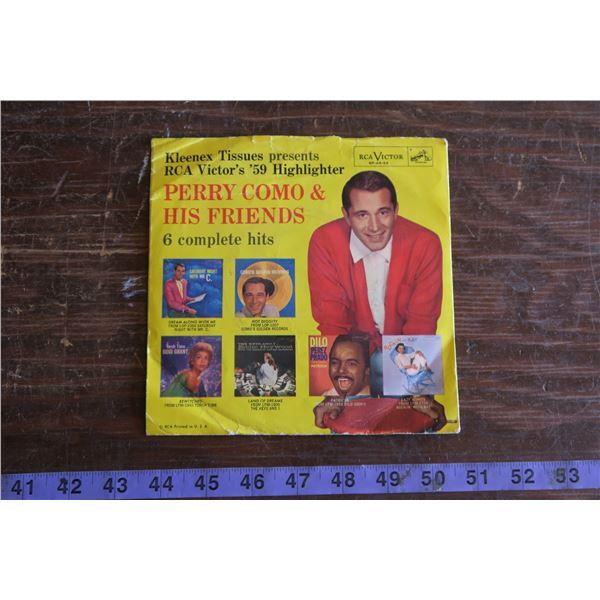 Perry Como Kleenex Promo Record