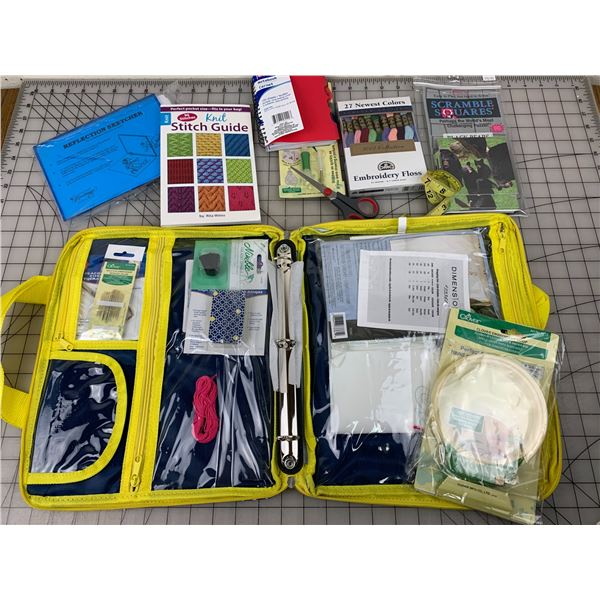 CRAFT BAG AND CONTENTS