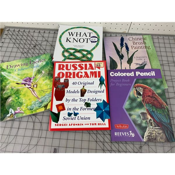 LOT OF CRAFT BOOKS DRAWING KNOTS FAERIES