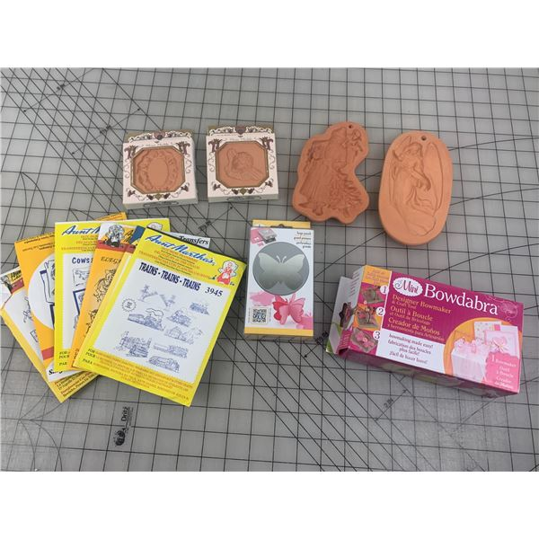 CRAFT LOT BUTTERFLY PAPER PUNCH COTTON PRESS MOLDS ETC