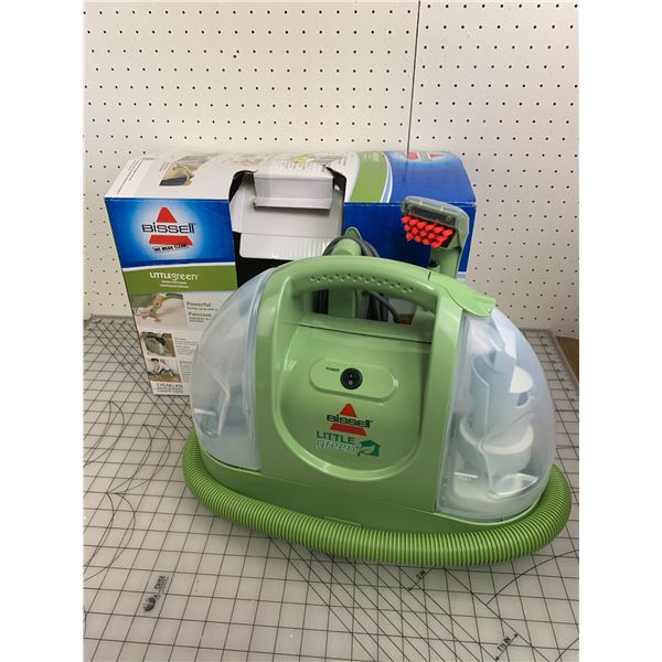 BISSEL LITTLE GREEN PORTABLE SPOT CLEANER BARELY USED