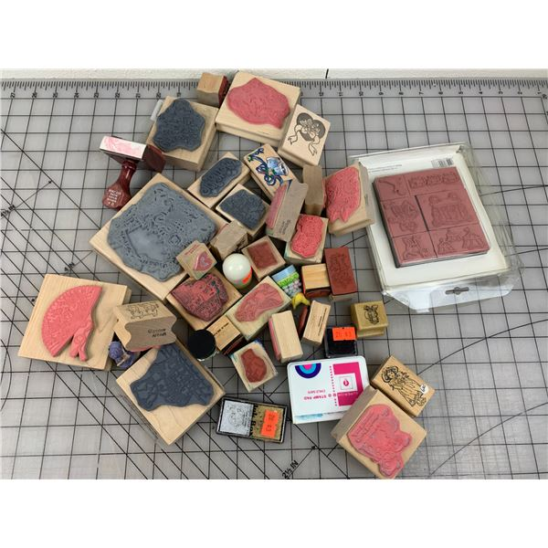 LOT OF CRAFT STAMPS ETC