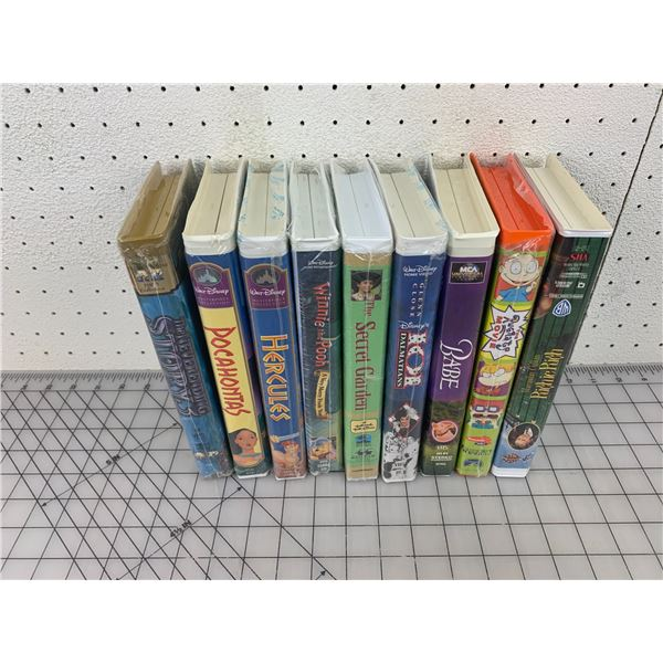 LOT OF VHS DISNEY AND MORE