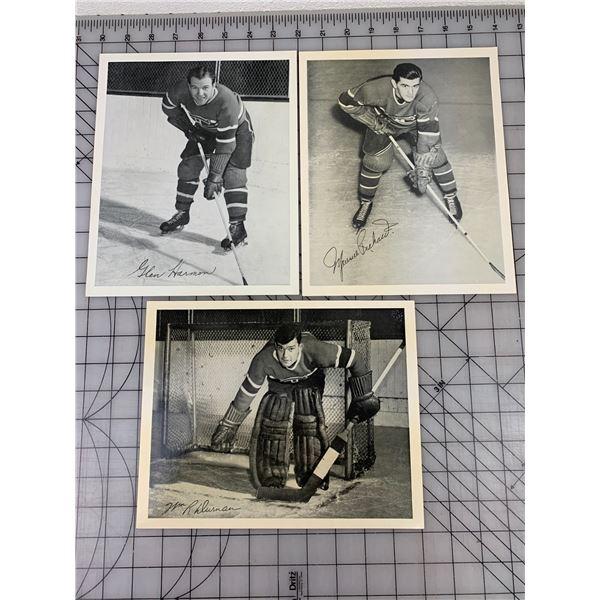 LOT OF QUAKER OATS HOCKEY PHOTO CARDS TORONTO MONTREAL CANADIENS