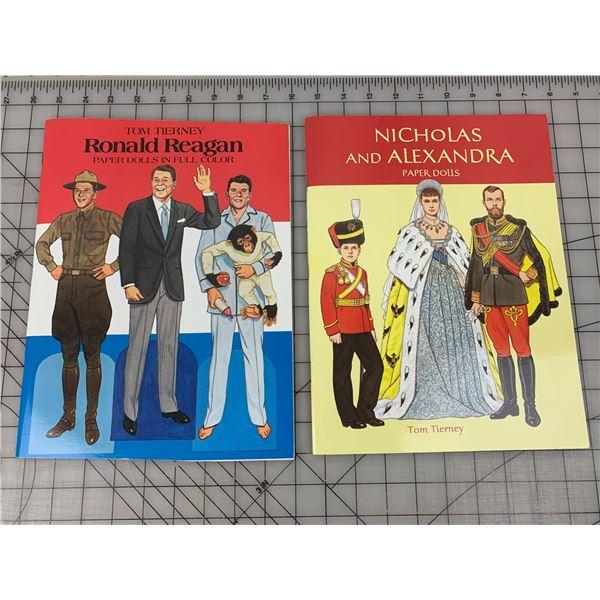 1980s 90s VINTAGE PAPER DOLLS UNCUT BOOKS RONALD REAGAN