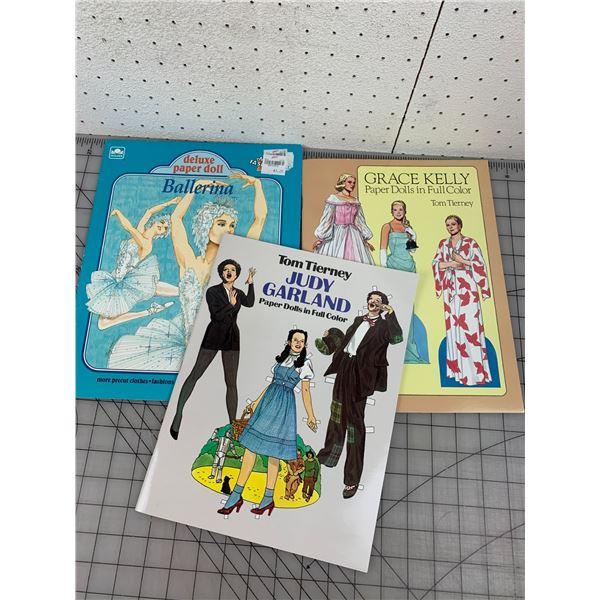 1980s 90s VINTAGE PAPER DOLLS UNCUT BOOKS JUDY GARLAND GRACE KELLY