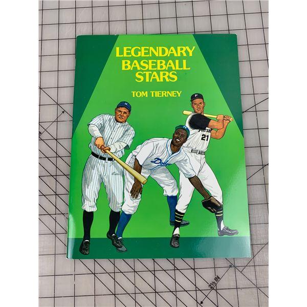 1985 LEGENDARY BASEBALL STARS PAPER DOLL PLAYERS UNCUT BOOK