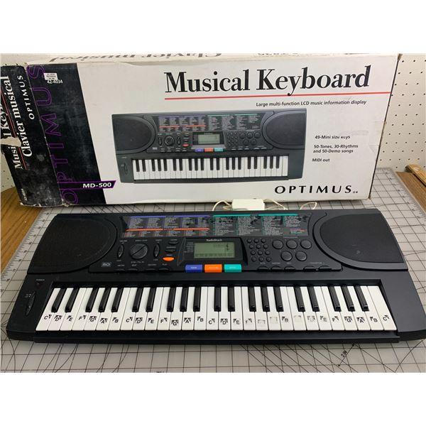 OPTIMUS MUSICAL KEYBOARD WITH BOX WORKS GOOD