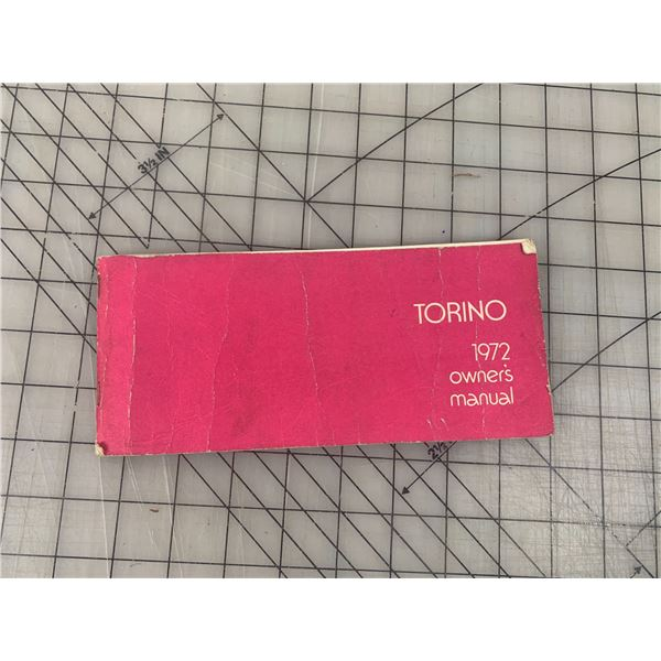 1972 TORINO OWNERS MANUAL FORD
