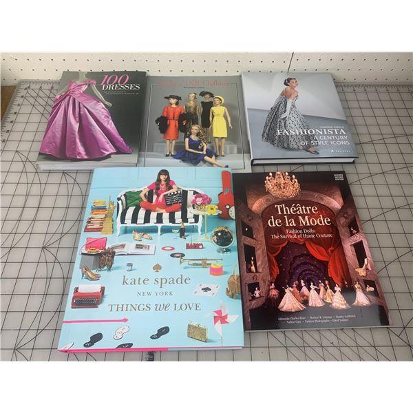 LOT OF BOOKS ABOUT DOLLS DRESSES FASHION ETC