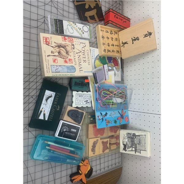 MISC CRAFT LOT STAMPS ETC