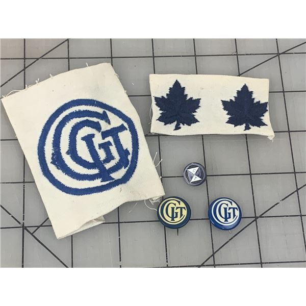 ANTIQUE CANADIAN GIRLS IN TRAINING PINS AND PATCHES