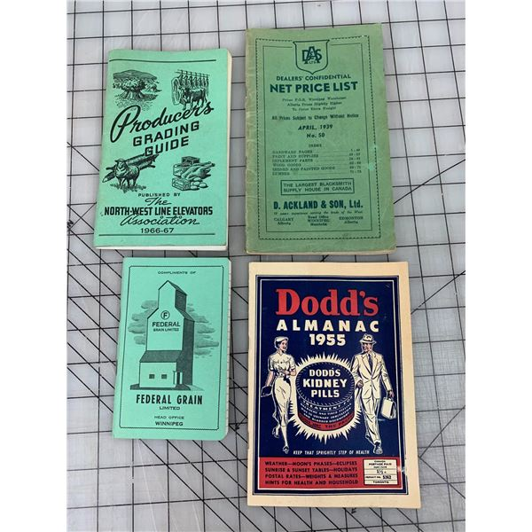 VINTAGE FARMING RELATED ADVERTISING NOTEBOOKS