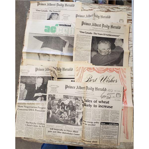 DIEFENBAKER NEWSPAPERS