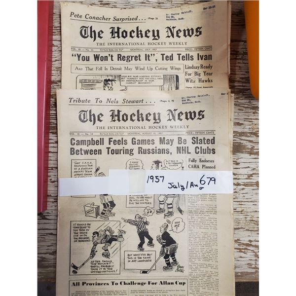 2 1957 THE HOCKEY NEWS