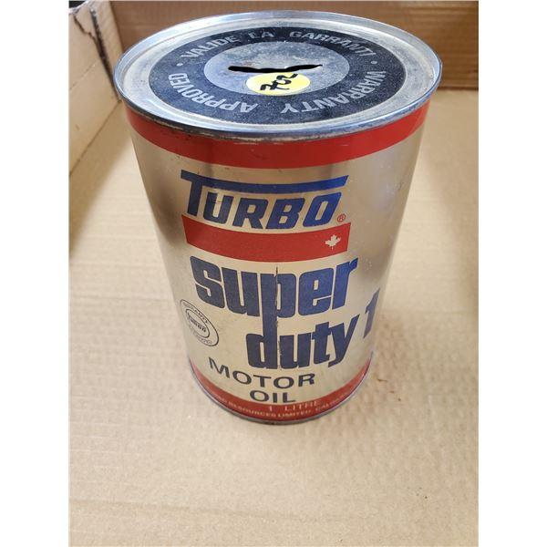 TURBO TIN LITRE CAN COIN BANK