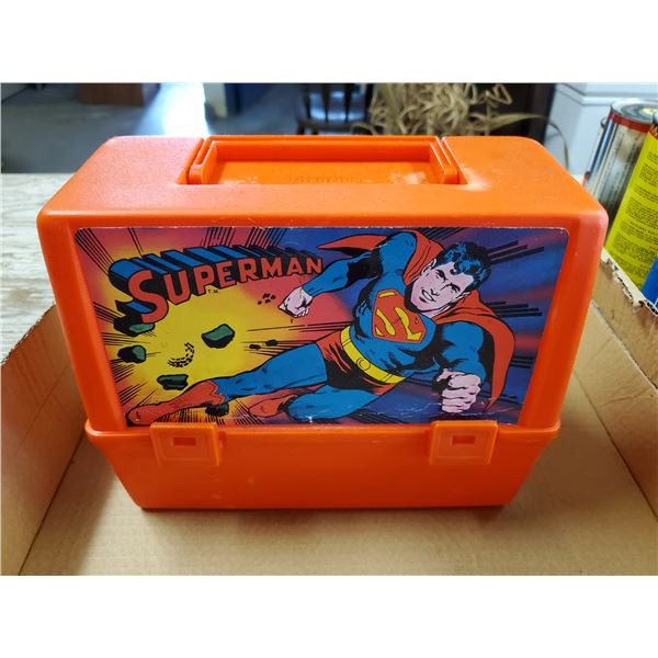 PLASTIC SUPERMAN LUNCH BOX -MADE IN CANADA