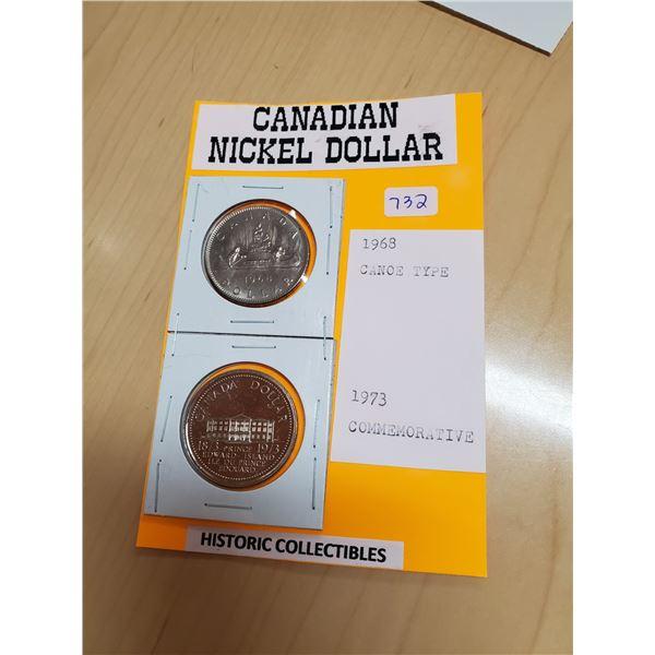 1968, 1973 NICKEL DOLLARS