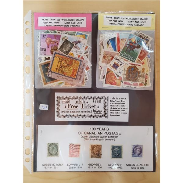 OVER 200 WORLDWIDE STAMPS