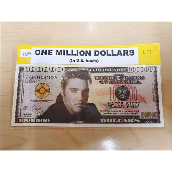ONE MILLION DOLLARS ELVIS PRESLEY BILL