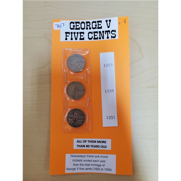 1922, 1930, 1931 GEORGE V CENTS