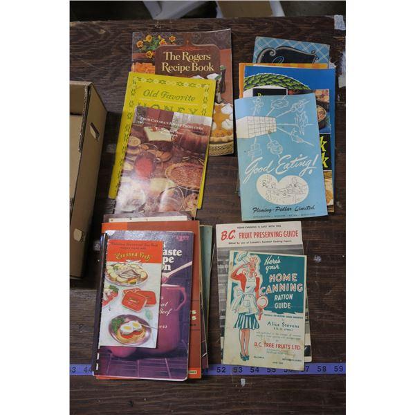 Lot Of Vintage Cooks Books