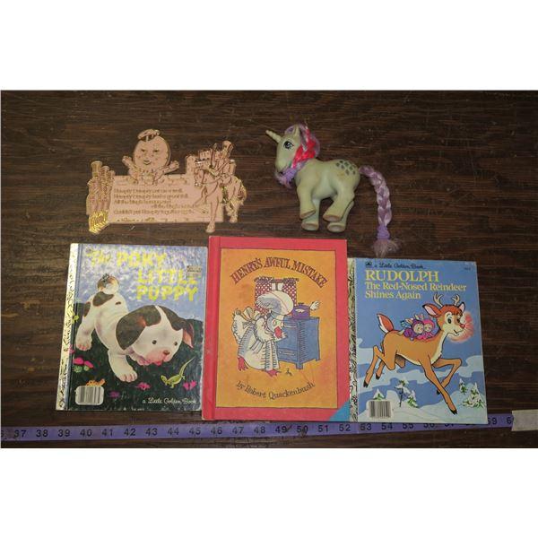 Vintage My Little Pony toy & Kids Books