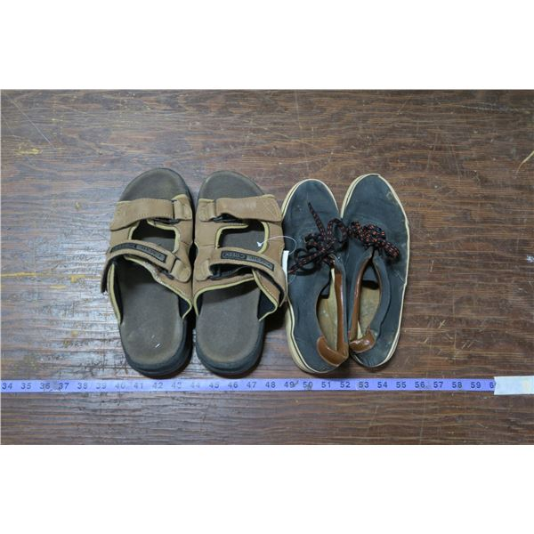Two Pairs Footwear, Sandals New. Sizes Unkown