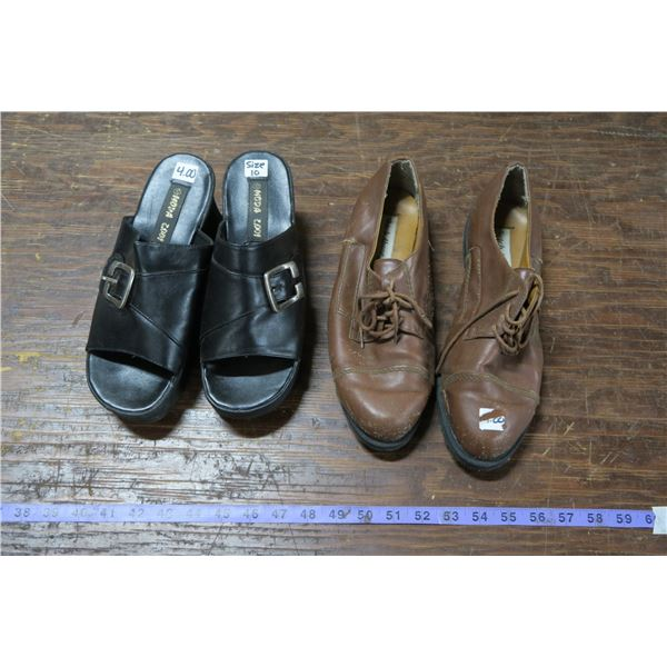 Two Pairs Footwear, Open Toe: Size 10, other unknown