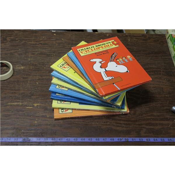Set of 10 Charlie Brown Encyclopedias