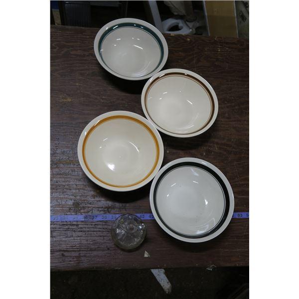 Vintage Bowls + Cruet