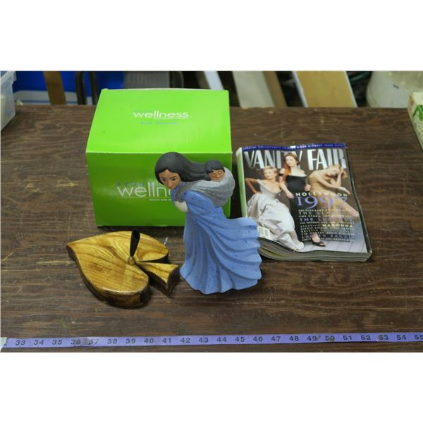 Avon Waterfall, Porcelain Satue, Pen Stand, Magazine