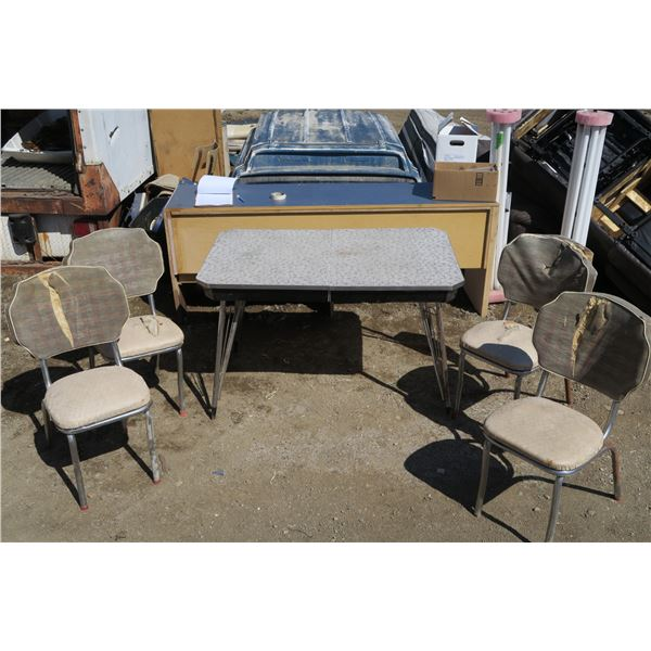 """Vintage Table+Chairs Set 29""""×48""""×30"""""""