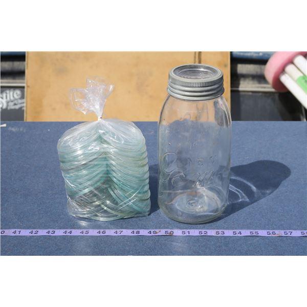 Lot Sealer Jar Lids with Sealer Jar