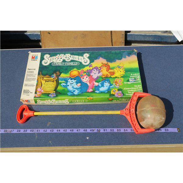 Vintage Fisher Price Push Toy & Snugglebumms Board Game