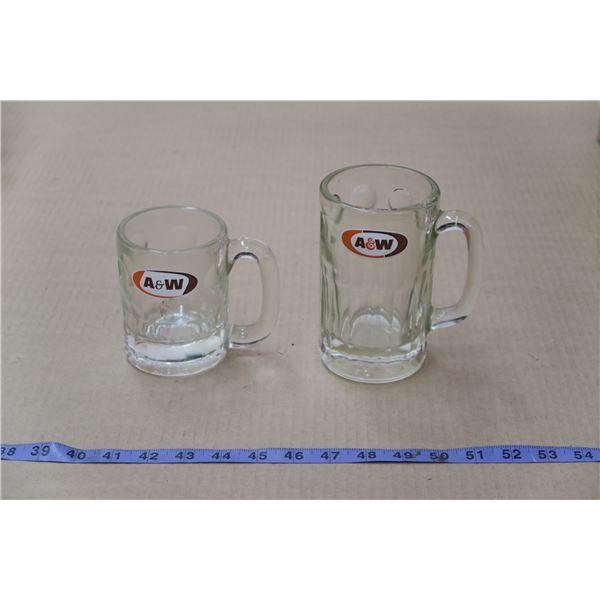 Matching Pair A&W Vintage Mugs