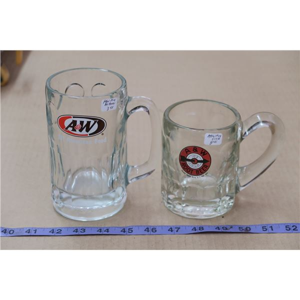 Pair Vintage A&W Mugs