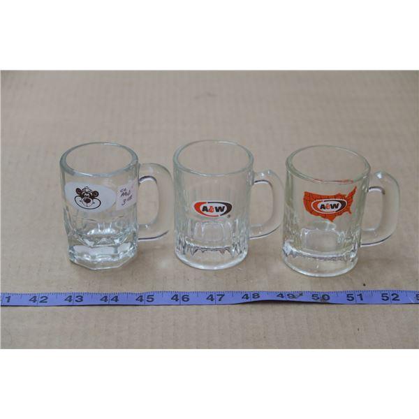3 Mini A&W Mugs