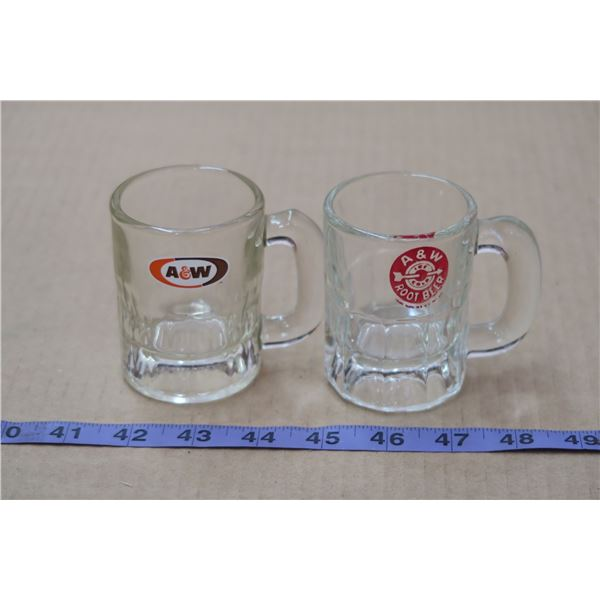 2 Mini A&W Mugs