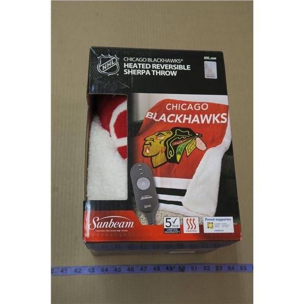 Blackhawks Sunbeam Heated Blanket