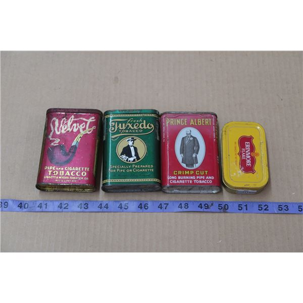 3 Vintage Tobacco Tins