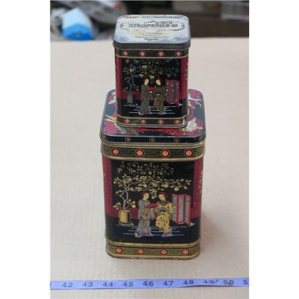2 Murchies Vintage Tea Tins