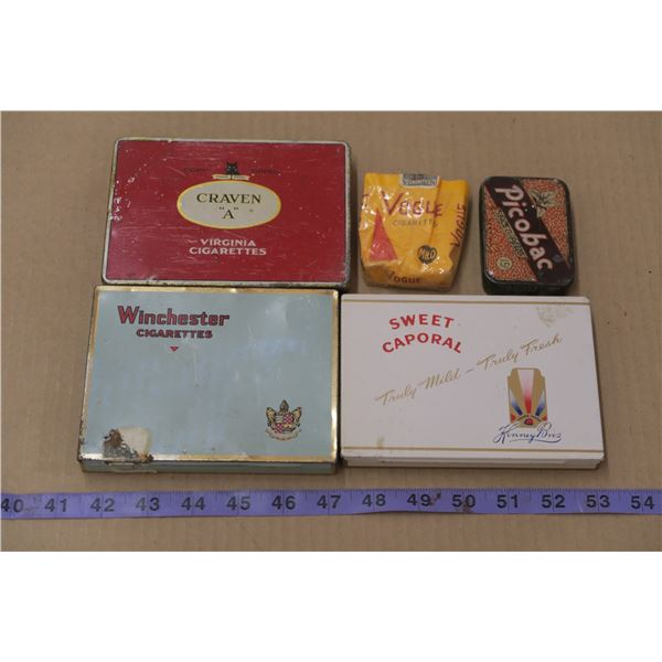 4 Vintage Cigarette Tins