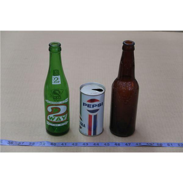 3 Vintage Soda/Beer Bottles