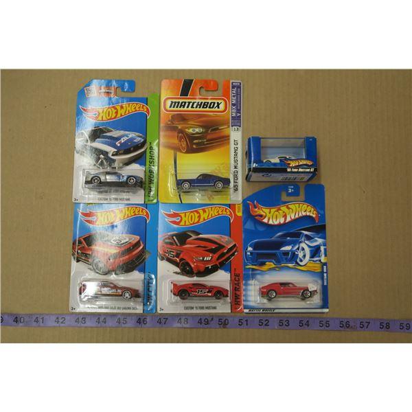 Lot of 6 Hot Wheels Cars