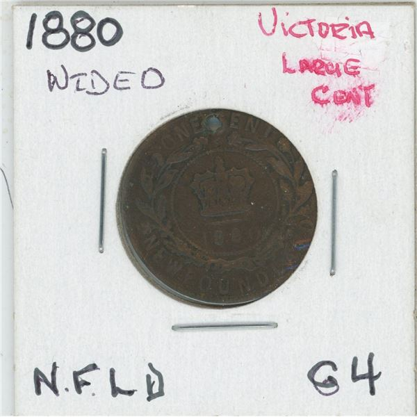 1880 (Wided) Victoria Large Cent, Newfoundland G4
