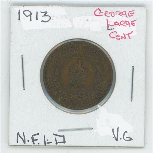 1913 Geroge Large Cent Newfoundland V6