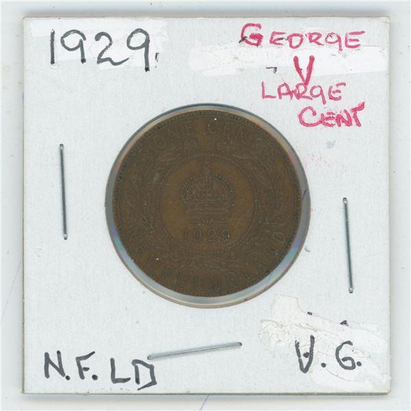1929 George V Large Cent Newfoundland V6