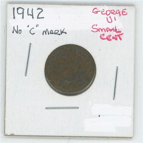 1942 (No C Mark) George VI Small Cent
